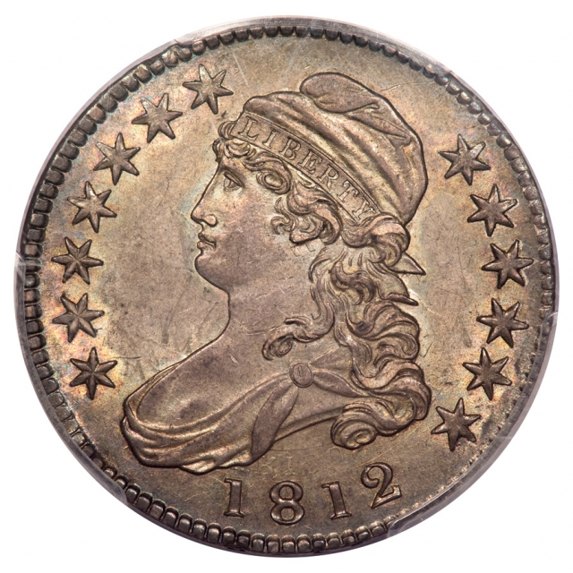 1812 50C O-103 Capped Bust Half Dollar PCGS MS62 (CAC)