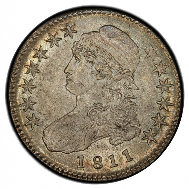 1811 50C Small 8 O-107 Capped Bust Half Dollar PCGS MS62 (CAC)