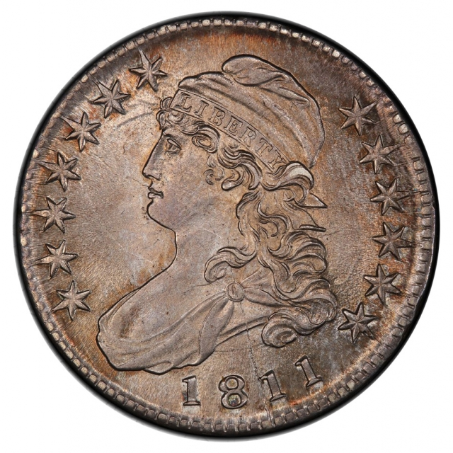 1811 50C Large 8 O-103a Capped Bust Half Dollar PCGS MS64