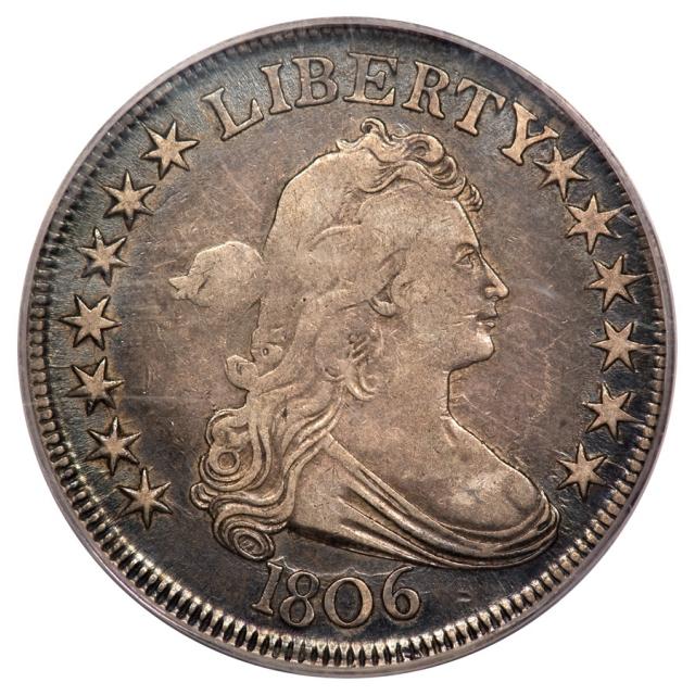 1806 50C O-119A R3 Pointed 6, Stem Draped Bust Half Dollar PCGS OGH VF25