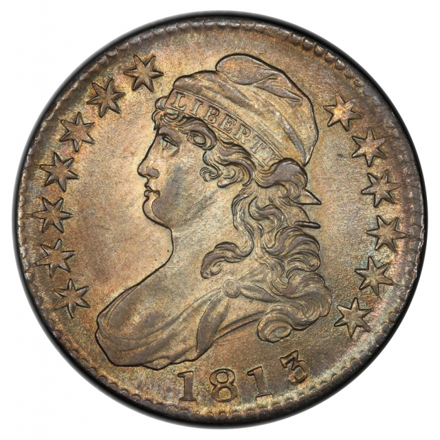 1813 50C O-108 Capped Bust Half Dollar PCGS MS62 (CAC)