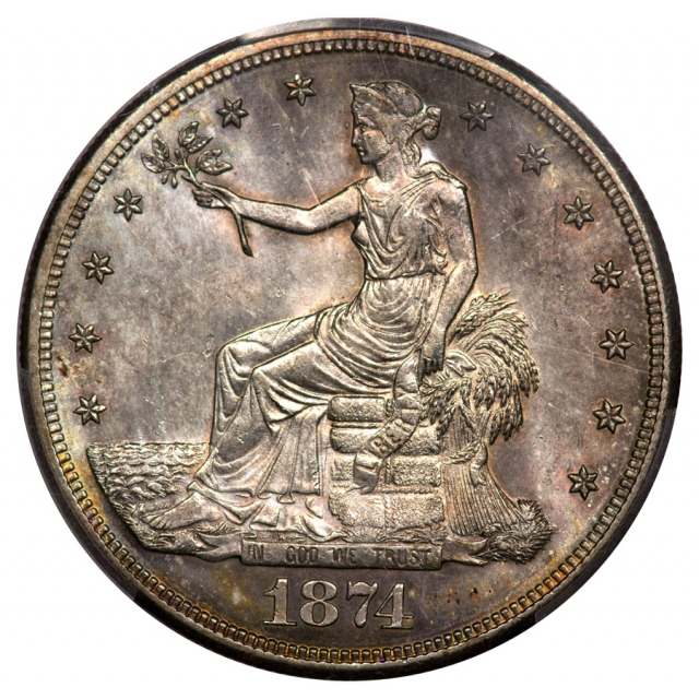 1874-S T$1 Trade Dollar PCGS MS63