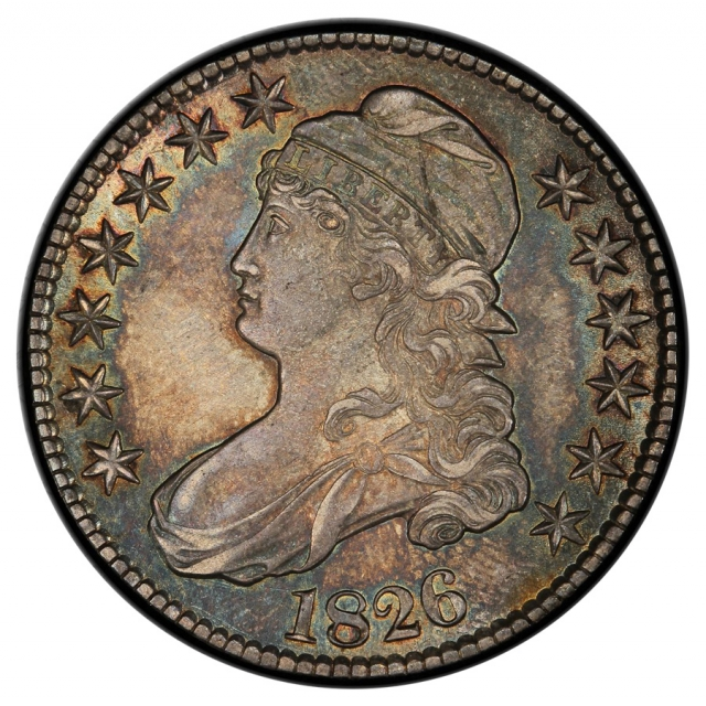 1826 50C O-112 Capped Bust Half Dollar PCGS MS62+ (CAC)