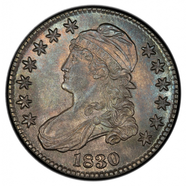 1830 50C Large 0 O-119 Capped Bust Half Dollar PCGS MS64 (CAC)