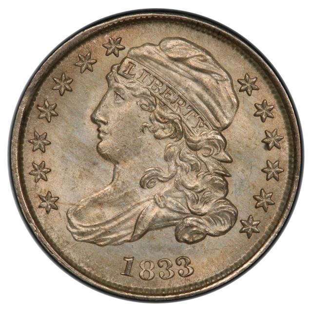 1833 10C Capped Bust Dime PCGS MS65