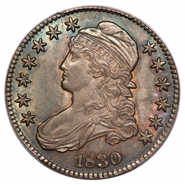 1830 50C Small 0 O-111 Capped Bust Half Dollar PCGS MS63 (CAC)