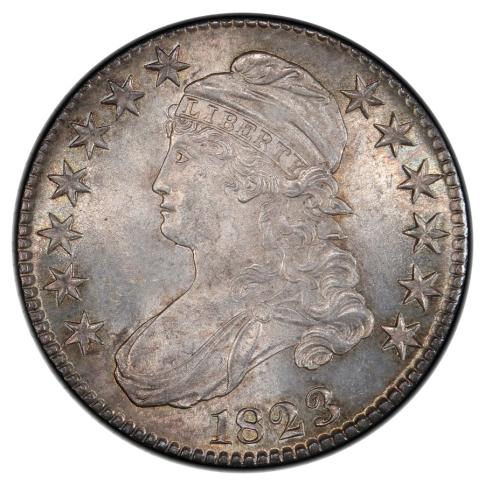 1823 50C O-110 Capped Bust Half Dollar PCGS MS65