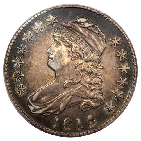 1815/2 50C Capped Bust Half Dollar PCGS AU53 O-101A