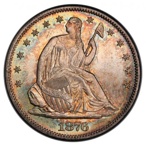 1876-S 50C Liberty Seated Half Dollar PCGS MS66+